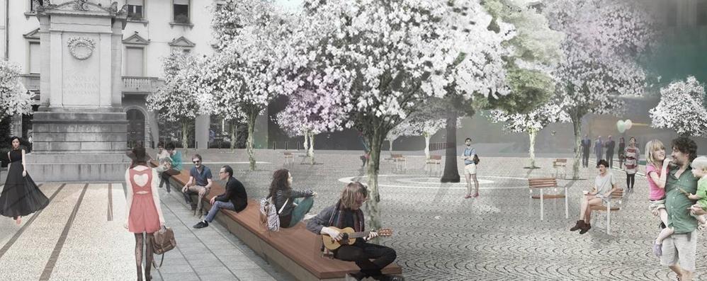 Piazza Volta e via Garibaldi, si cambia