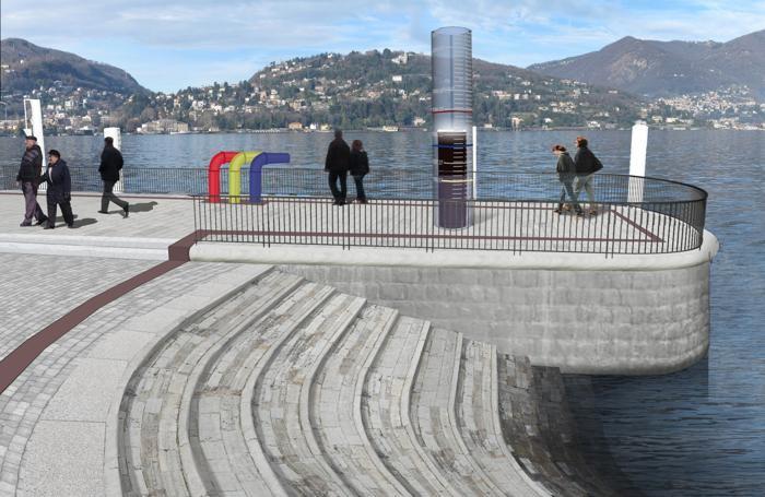 Progetto paratie, un particolare di piazza Cavour