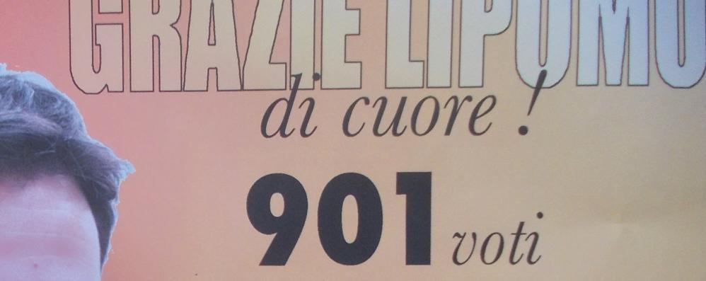Un manifesto per dire grazie  Ai 901 elettori di Lipomo