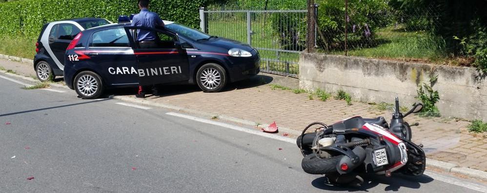 Scooter contro una Panda: ferite serie
