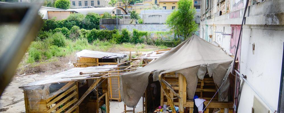 Arriva la baraccopoli  nell'area dell'ex Ticosa