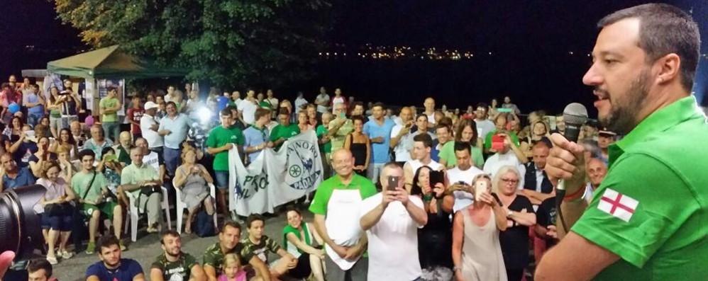 Bulgarograsso e Lezzeno Folla per Matteo Salvini