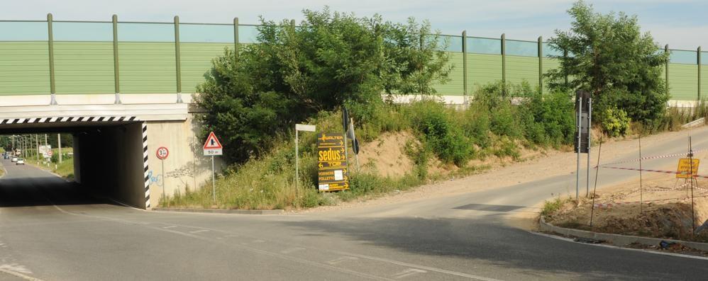 Una rotonda con la nuova azienda  Provinciale chiusa per tre mesi