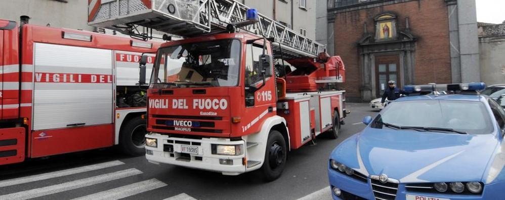 Como, vigili del fuoco in viale Lecco Trovata anziana morta in casa