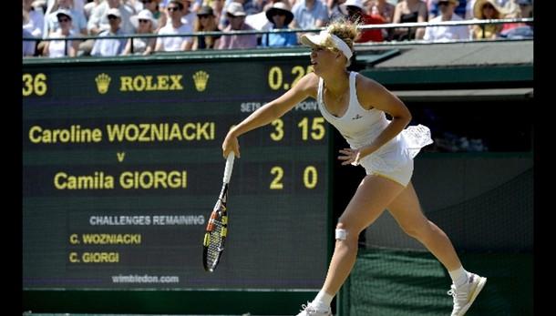 Wimbledon, Giorgi ko contro la Wozniacki