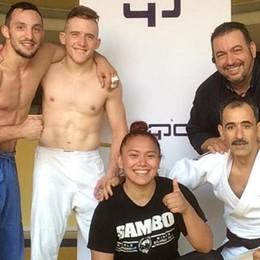 Judo, metti un'australiana in allenamento ad Arosio