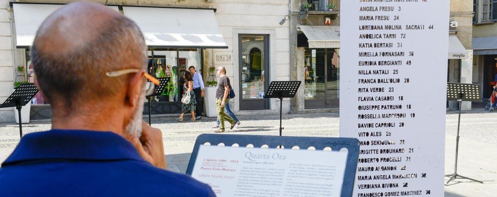 Strage di Bologna  Como la ricorda  leggendo in piazza
