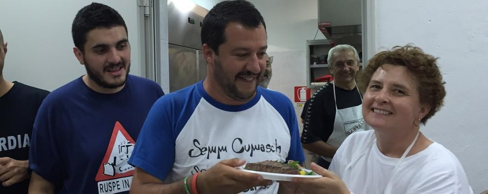 Salvini ai leghisti di Turate  «Basta litigi, uniti si vince»