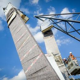 Como montaggiomonumento Libeskind sulla diga foranea