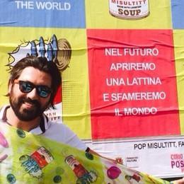"""Affisso il poster """"Pop Misultitt""""  «L'ultima visione dell'arte tessile»"""