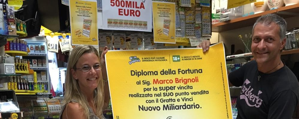 Un Gratta&Vinci da mezzo milione  Superfortunato all'Iper di Grandate