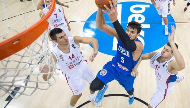 Basket: Europei, Italia-Serbia 82-101
