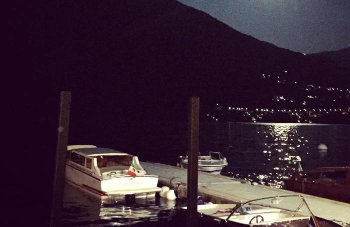 Una foto del lago postata sul suo profilo Instagram