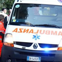 Ciclista caduto a Nesso  Soccorso dal 118