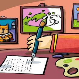 Scrivere e dipingere  a testa in giù è meglio