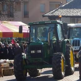 La sfilata degli ottanta trattori  Così Erba festeggia Sant'Antonio