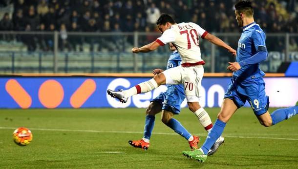 Anticipo serie A, Empoli-Milan 2-2