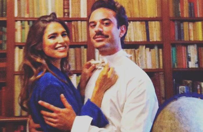Cernobbio Bianca Balti e Guido Taroni a Villa Erba servizio fotografico di Harper's Bazaar  di Giovanni Gastel
