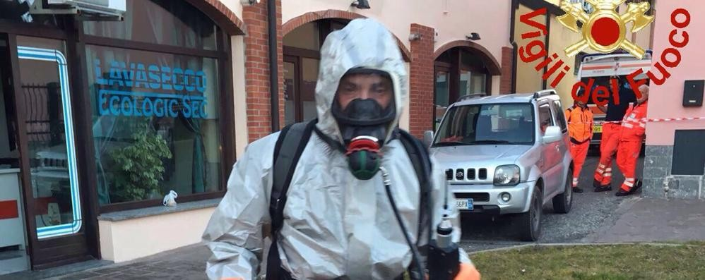 Olgiate, liquidi tossici in lavanderia Intervengono i vigili del fuoco