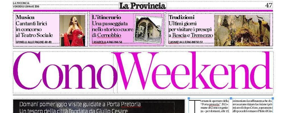 Oggi con la Provincia l'inserto week end