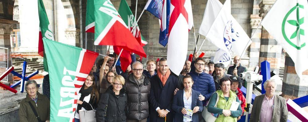Il referendum riunisce il centrodestra  Lega, Forza Italia e FdI in piazza per il no