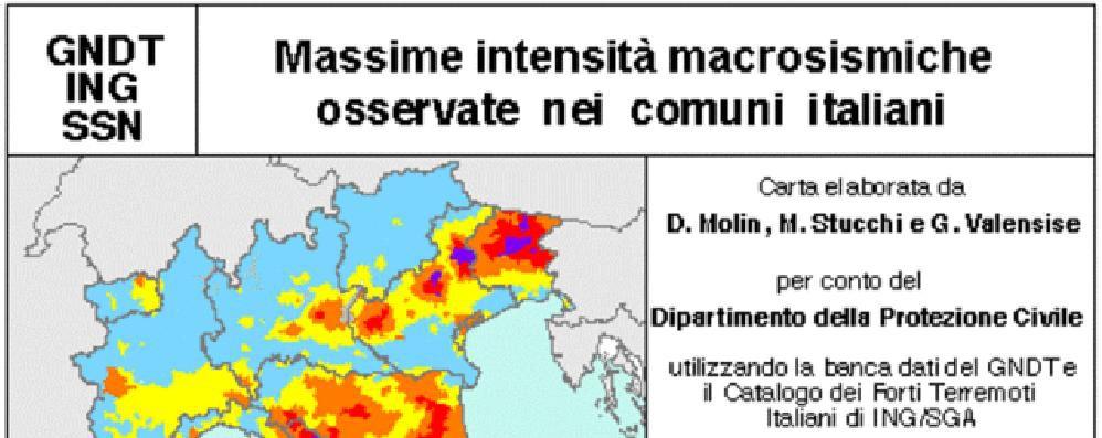 Sondrio: la mappa sismica dei Comuni  Basso il rischio di terremoti in Valle