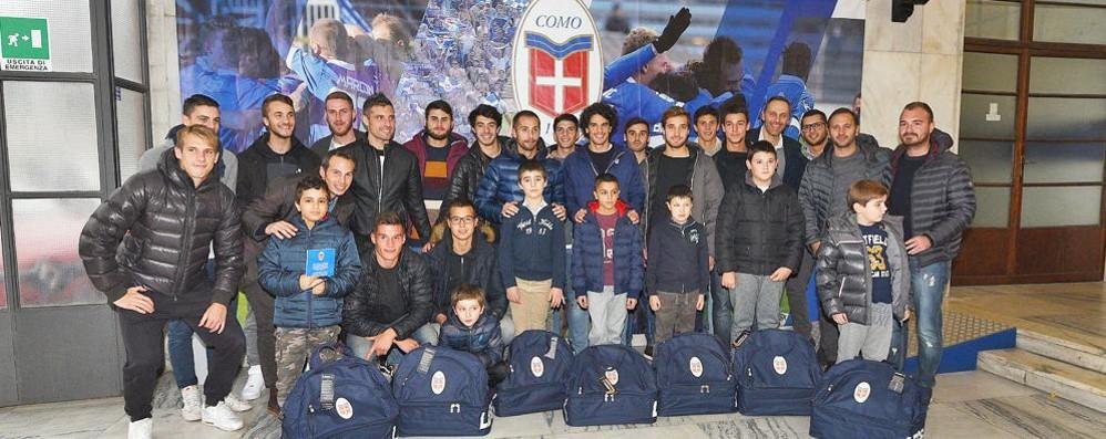 Calcio Como, gol per l'integrazione  Una squadra composta solo da disabili