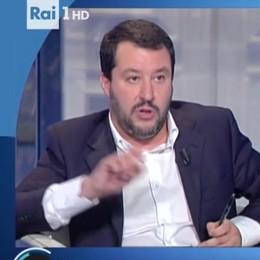 """""""Porta a Porta"""" e il caso  Tremezzina  Salvini e la Boschi parlano della strada"""