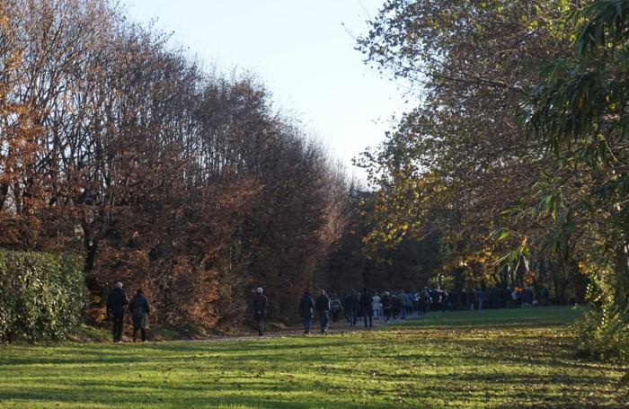In cammino nel parco di Villa Barbavara