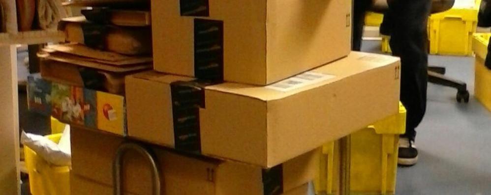 Olgiate, Amazon intasa le poste  Arrivati 450 pacchi al giorno