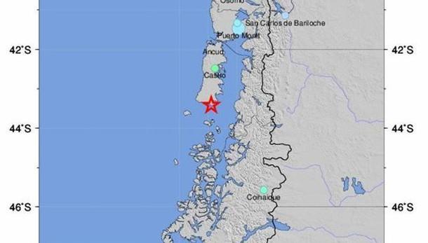Cile: sisma di magnitudo 7.7