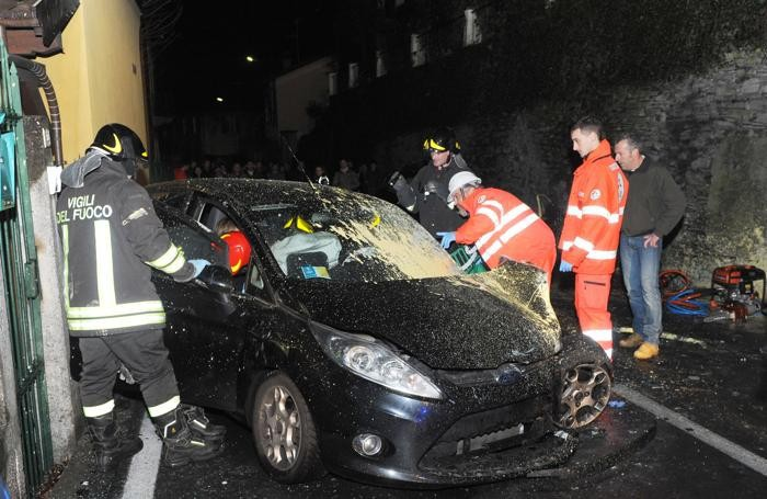 Blevio incidente mortale in via Caronti