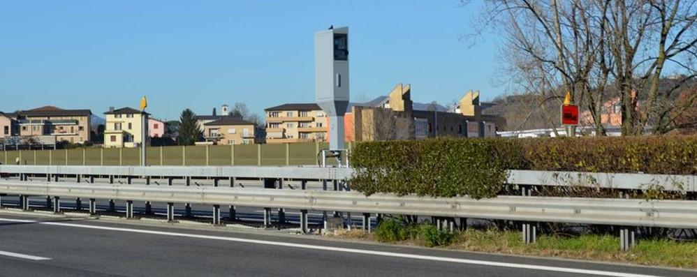 Autostrada in Svizzera  Oggi si accende l'autovelox  a due passi dal confine