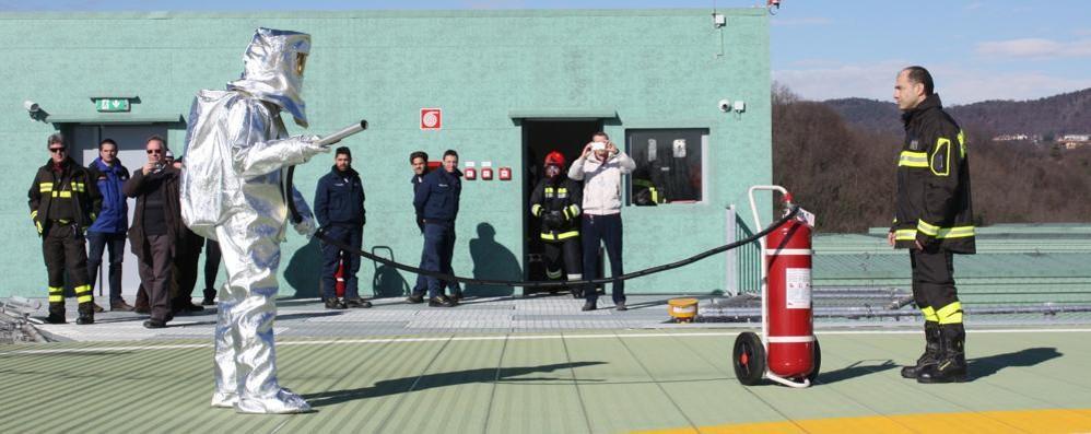 """I vigili del fuoco dicono sì  """"Promossa"""" l'elisuperficie"""