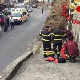 Cade a San Bartolomeo  Recuperato nel fiume