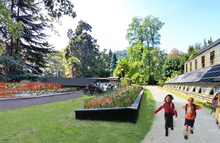 Il progetto di riqualificazione del Parco Storico e la creazione dell'Orto botanico, le serre