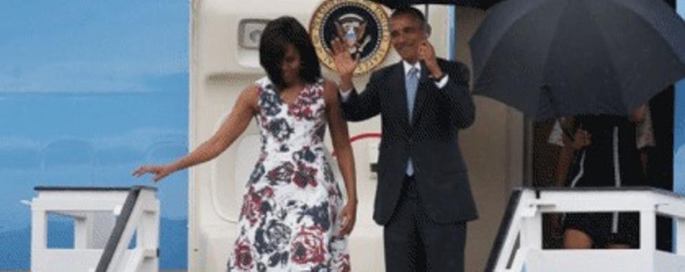 Michelle Obama a Cuba  veste made in Como