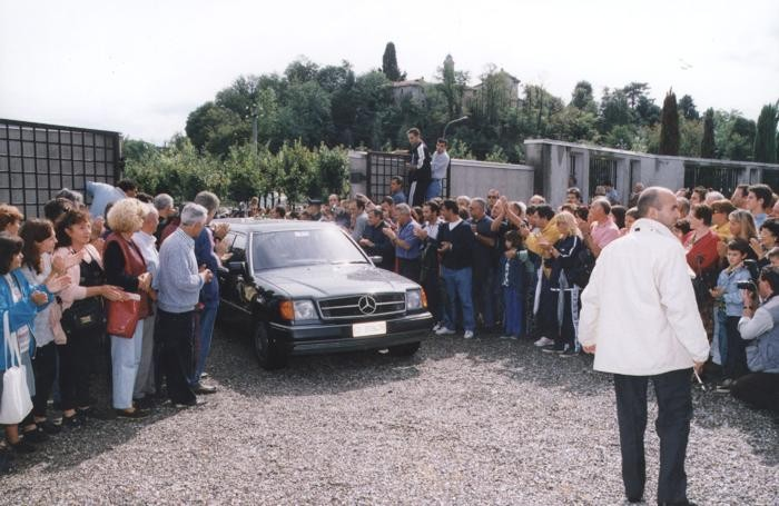 I funerali di Lucio Battisti a Molteno (foto Menegazzo)
