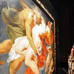 Como Vittorio Sgarbi visita la mostra di Rubens di notte con l'assessore Sergio Gaddi