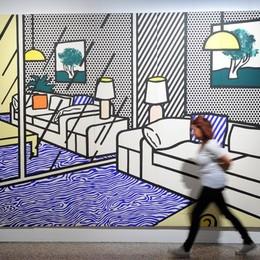 Como Villa Olmo mostra Com'è viva la città - Art & the City 1913/2014 i visitatori del giorno di Ferragosto