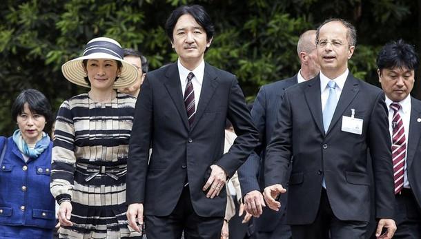 Da Renzi principe e principessa Akishino