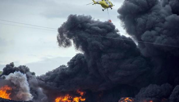 Incendio vicino Madrid, 9000 evacuati