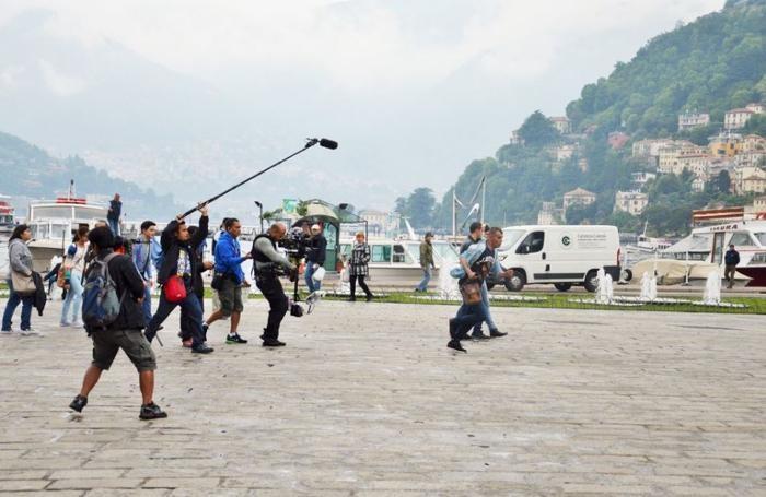 riprese film filippino piazza cavour como cinema