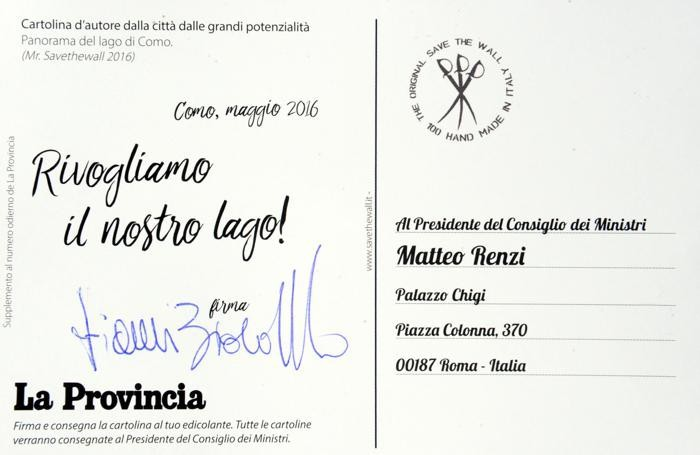 Como cartoline per il lungolago, la firma dello scrittore Gianni Biondillo