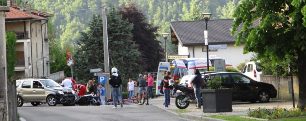 Incidente  a Pellio  Ferito motocilcista