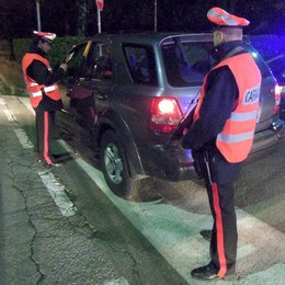 Carabinieri, notte di pattuglie  Arrestato con 150 grammi di cocaina