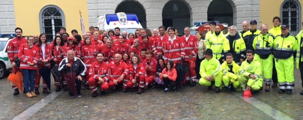 """San Fermo, una """"battaglia"""" vinta  Ambulanza  alla Croce Rossa"""
