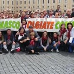 Un saluto da Roma  ai fedeli di Olgiate  È quello del Papa