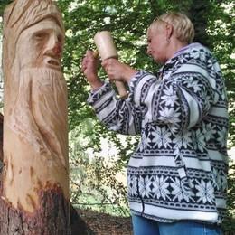 """Sculture di legno, artisti in diretta  Così """"Boscultura"""" entra nel vivo"""