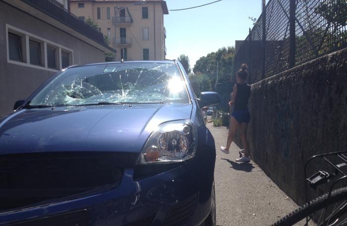Un'altra scena dell'incidente